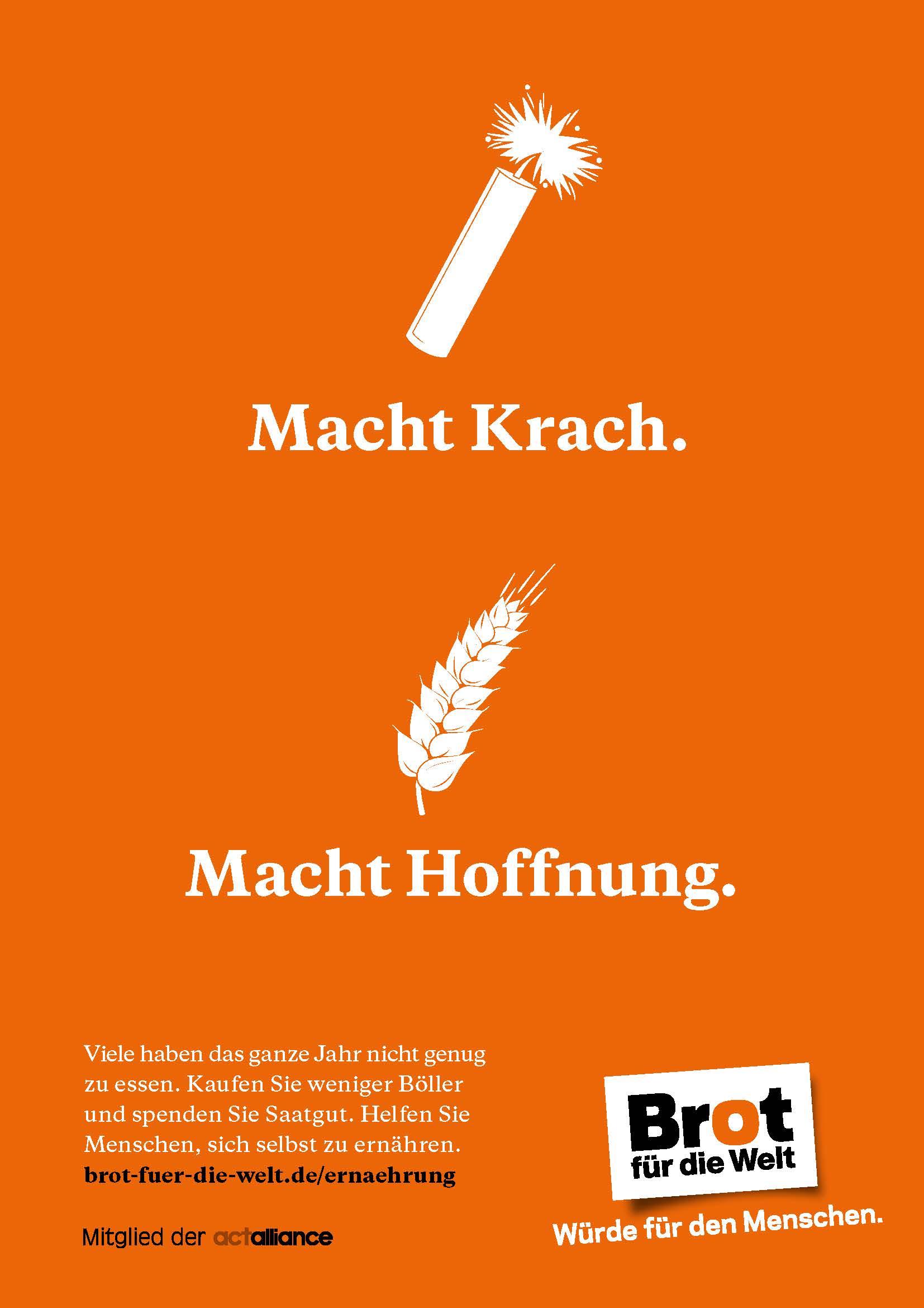 Plakat: Macht Krach. Macht Hoffnung
