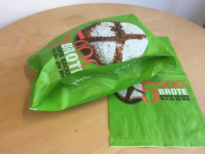 Faltenbeutel 5000 Brote