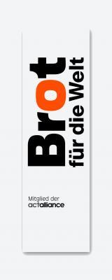 Fahne mit Logo Brot für die Welt