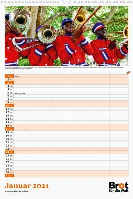 Monatsplaner: Familienkalender 2021
