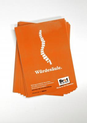 "50er Pack Aufkleber-Postkarte ""Würdesäule"""
