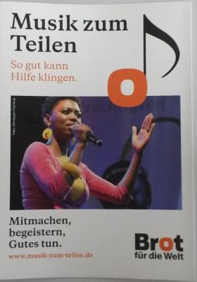 Faltblatt: Musik zum Teilen