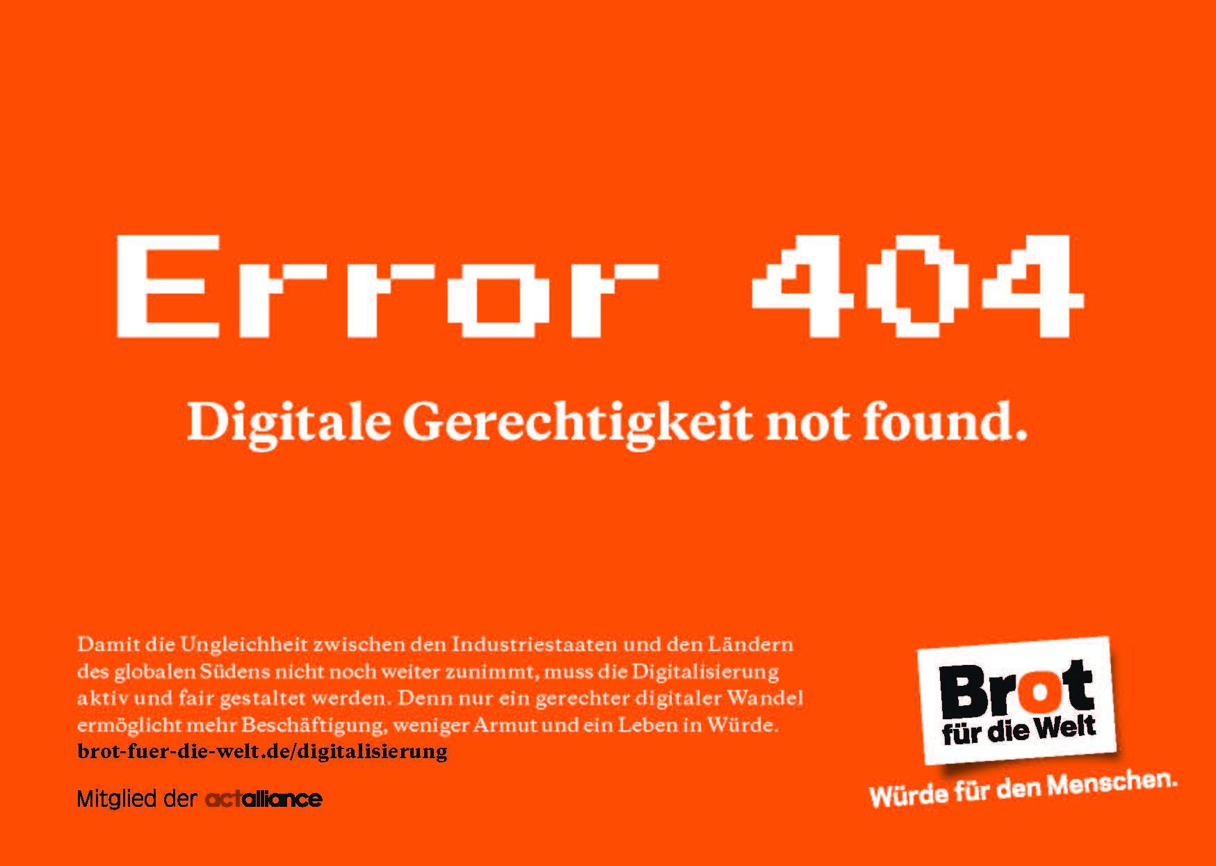 Postkarte: Error 404