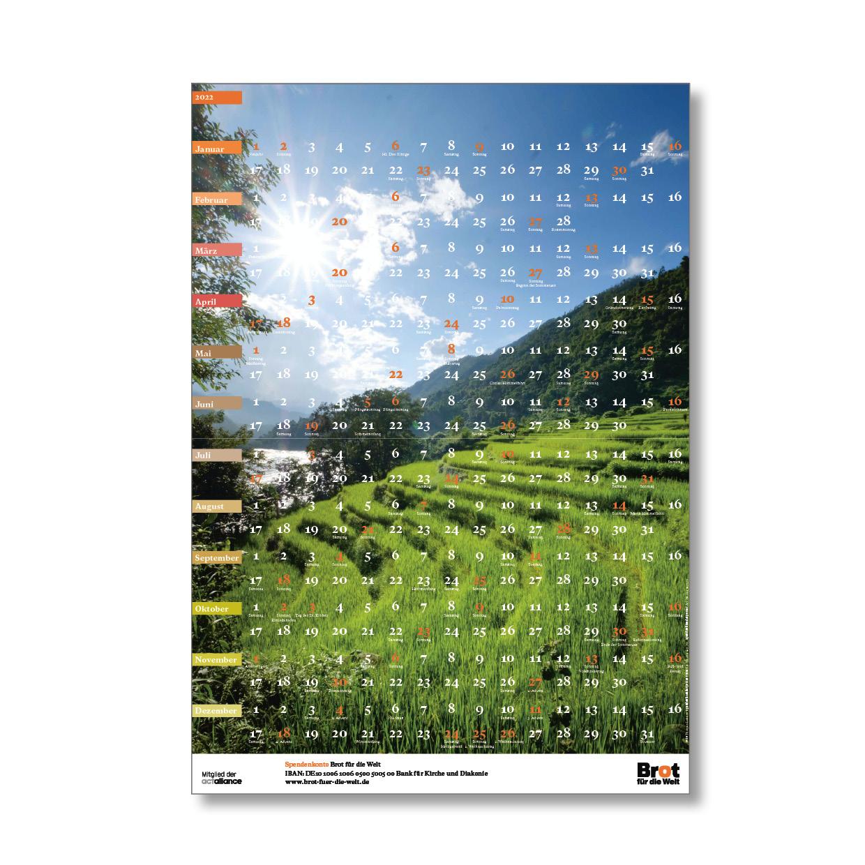 Einschubbogen 2022 für den Spendenkalender