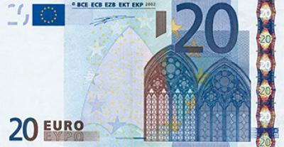 Faksimile 20-Euro-Schein