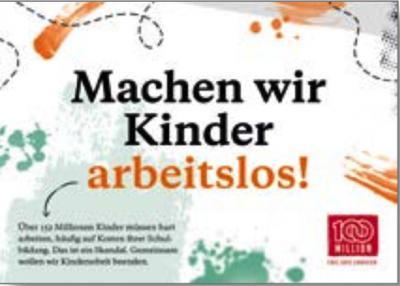Postkarte: Machen wir Kinder arbeitslos!