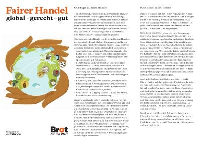 Faltblatt: Fairer Handel