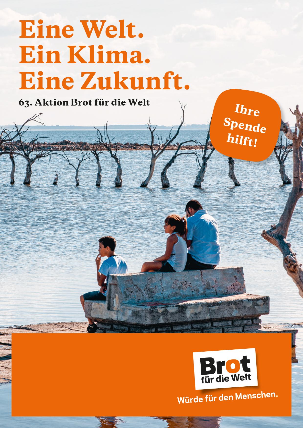 Aktionsfaltblatt Eine Welt. Ein Klima. Eine Zukunft. - 63. Aktion (Einzelexemplar)