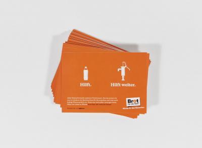 """50er Pack Aufkleber-Postkarte """"Wasser hilft"""""""
