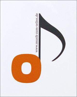 Aufkleber: Musik zum Teilen