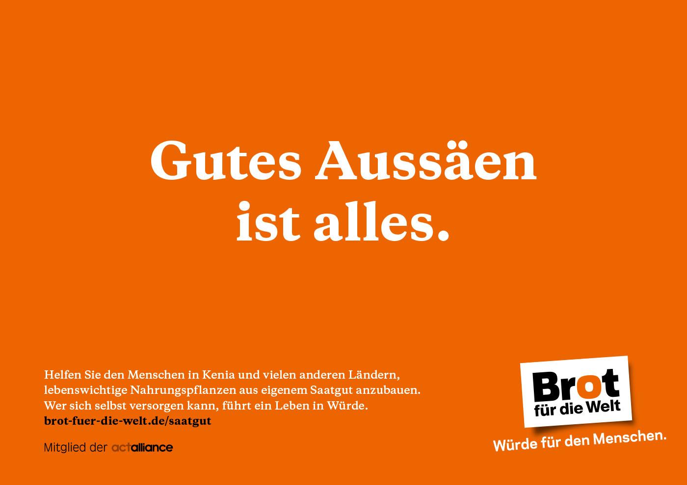"Plakat ""Gutes Aussäen ist alles"""