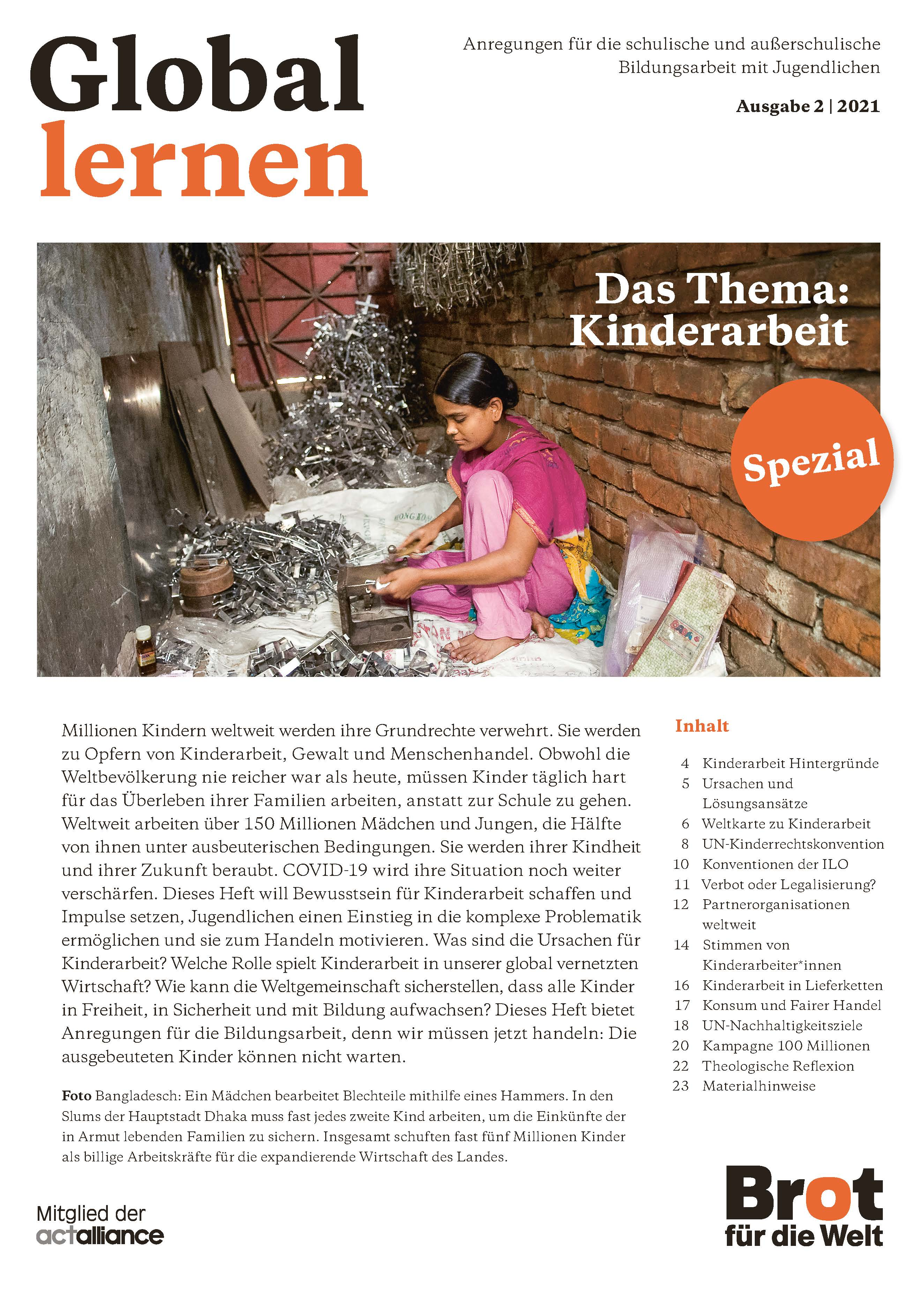 Global lernen: Kinderarbeit