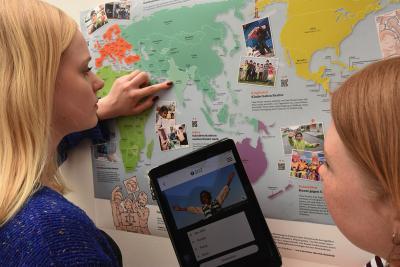 Weltkarte – virtuelle Projektbesuche für mehr Gerechtigkeit