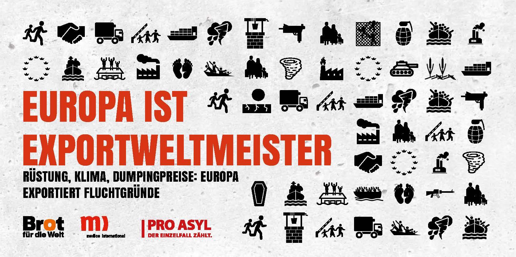 Faltblatt: Europa ist Exportweltmeister