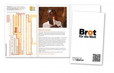 Neu: Spendentüte mit Zahlschein - Corona-Sonderprodukt zum Einlegen in den Gemeindebrief