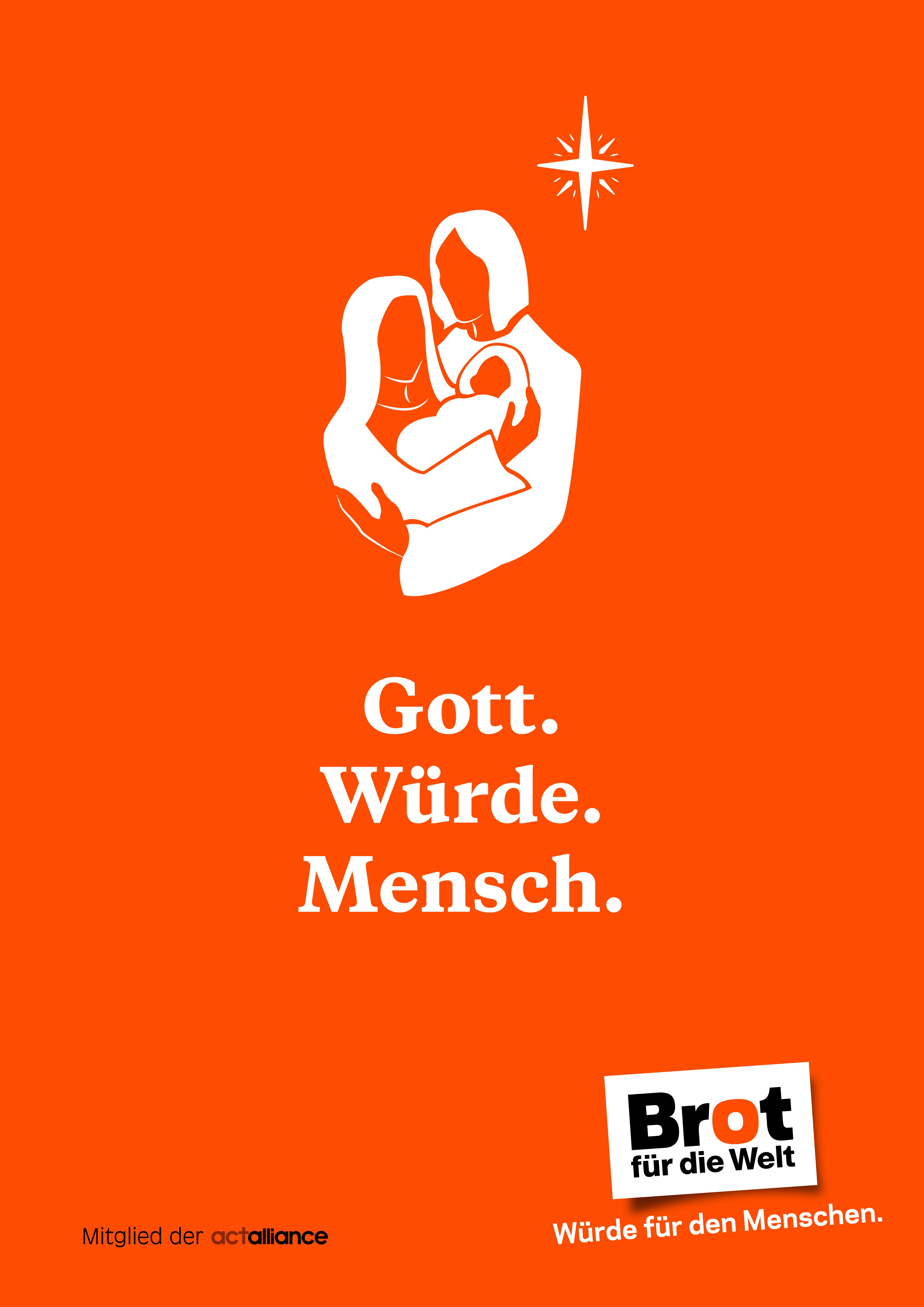 Plakat: Gott - Würde - Mensch